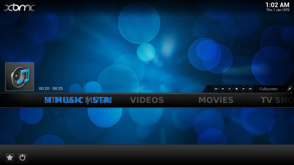 New Stream Music button