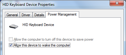 Allow this device to wake the computer